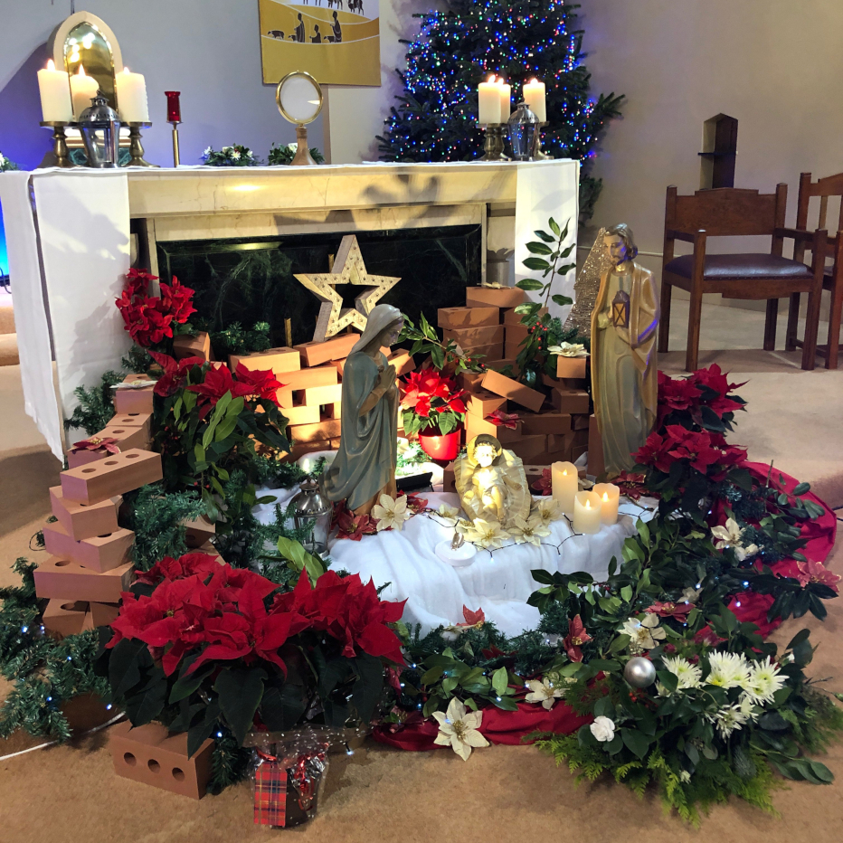 Saint Gregory's alter at Christmas